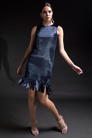 Electric Blue Fringed Dress by Tara And I