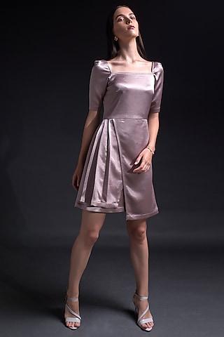 Purple Pleated Dress by Tara And I