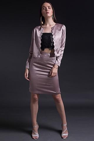 Grey & Blush Pink Jacket by Tara And I