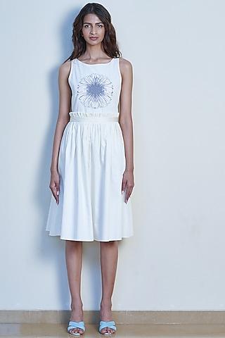 Ivory Printed Ballerina Dress by Tara and I