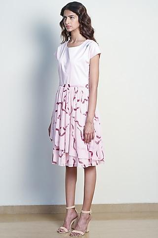 Blush Pink Ballerina Color Blocked Dress by Tara and I