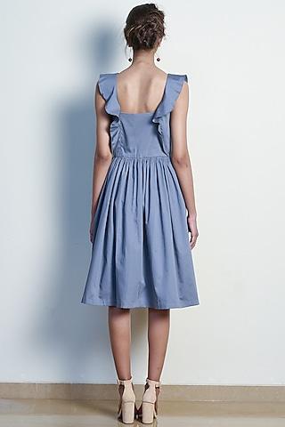 Pearl Grey Dress With Ruffles by Tara and I