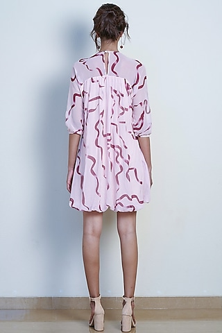 Blush Pink Printed Boho Dress by Tara and I