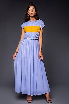 Powder Blue Dress With Ruching by Tara and I