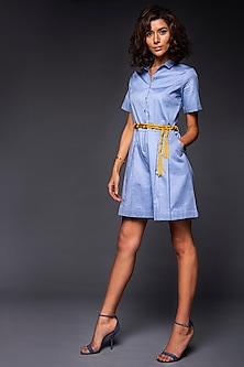 Powder Blue Playsuit With Belt by Tara and I