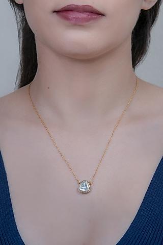 Gold Finish Pendant Necklace by The Alchemy Studio