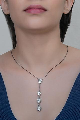 Black Rhodium Finish Pendant Necklace by The Alchemy Studio