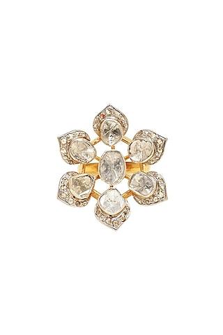 Gold Finish Diamond Ring by The Alchemy Studio