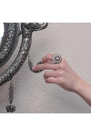 Black & Gold Finish Ring by The Alchemy Studio
