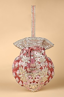 Pink Embroidered Potli Bag by Tarun Tahiliani-Shop By Style