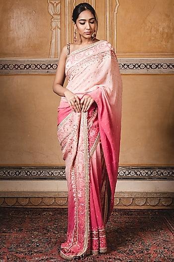 Pink Embroidered Saree Set by Tarun Tahiliani