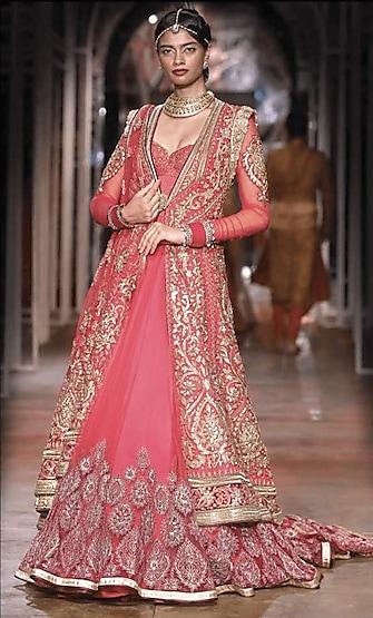 Pink Zardosi Embroidered Jacket by Tarun Tahiliani