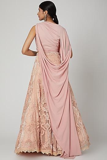 Pink Lehenga With Blouse by Tarun Tahiliani
