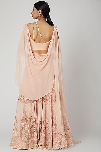 Pink Blouse With Lehenga by Tarun Tahiliani
