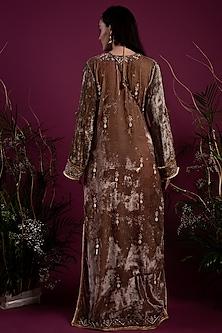 Olive Green Kaftan Dress by Tara Thakur
