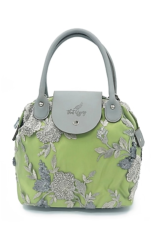 Mint Green Embroidered Bag by THAT GYPSY