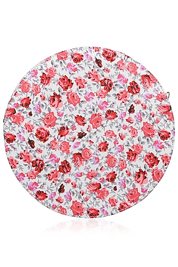 Red, Pink, Grey and White Floral Cherry Blossom Clutch by Tarini Nirula