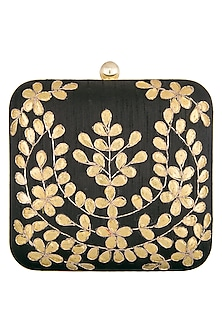 Black embroidered clutch by Tarini Nirula
