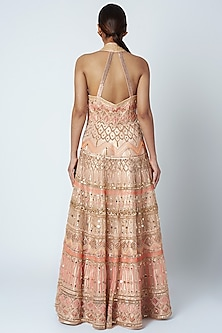 Beige Sequins Embroidered Gown by Tamaraa By Tahani