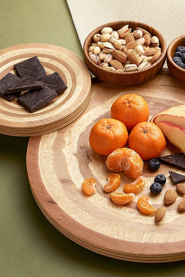 Wood Stemma Thali Platter by Tessera Home