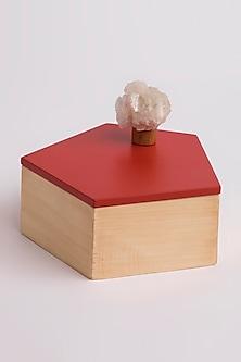 Wood Pentagon Utility Box (Set of 2) by Tessera Home