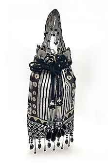 Black & White Embroidered Bag by The Garnish Company-POPULAR PRODUCTS AT STORE