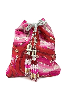 Red & Pink Embroidered Bag by The Garnish Company-POPULAR PRODUCTS AT STORE