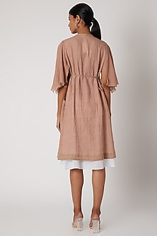 Blush Pink Dress With Flared Sleeves by The Grey Heron