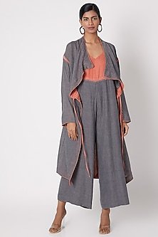 Grey Jaal Embroidered Jacket by The Grey Heron