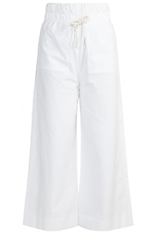 White Cotton Pants by The Grey Heron