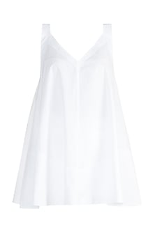 White Cotton A-Line Top by The Grey Heron
