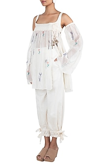 Cream cotton peasant top by The Grey Heron