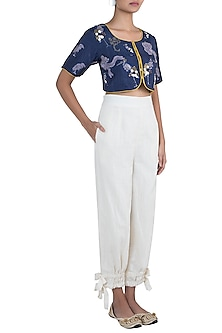 Cream Pants With Ankle Belts by The Grey Heron
