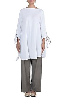 Off White Asymmetric Shirt by The Grey Heron