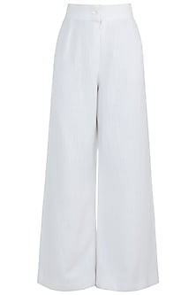 Off White Flared Pants by The Grey Heron