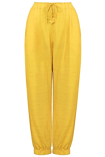 Yellow Bottom Trapped Pants by The Grey Heron