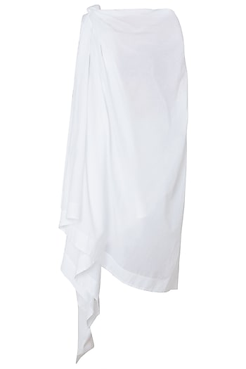 White One Shoulder Asymmetrical Dress by The Grey Heron