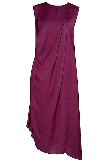 Maroon Maxi Cowl Dress by The Grey Heron