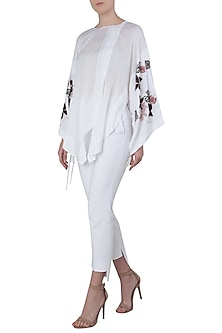 White Japanese Embroidered Shirt by The Grey Heron
