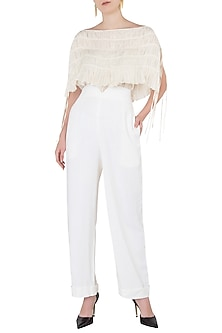 Off White Trousers by The Grey Heron