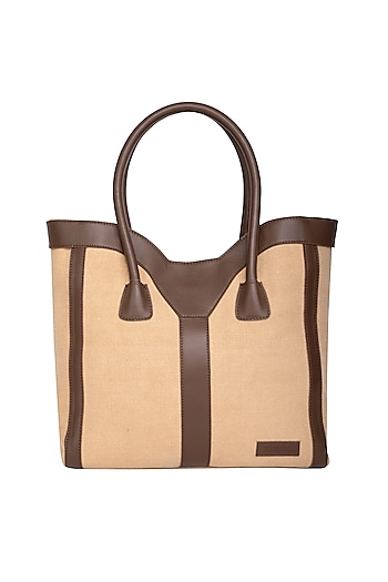 Sand Tote Bag With Shoulder Handle by The House of Ganges