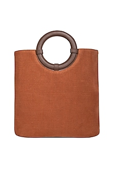 Rust Sling Tote Bag by The House of Ganges