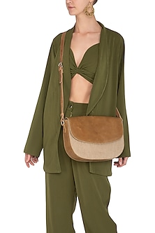 Sand Crossbody Bag With Mobile Pocket by The House of Ganges