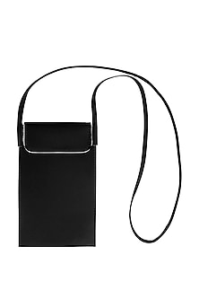 Pitch Black Mobile Case With Sling Handle by The House Of Ganges