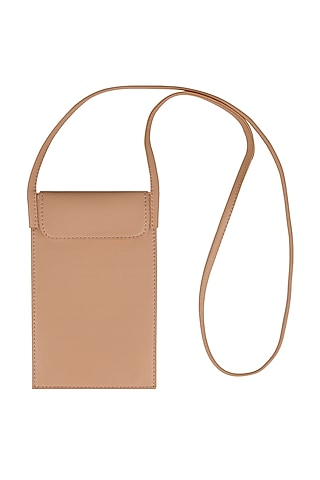 Nude Mobile Case With Sling Handle by The House Of Ganges