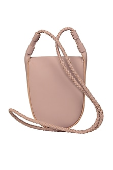 Ballerina Pink Sling Bag With Button Closure by The House Of Ganges