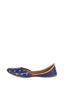 Indigo Hand Painted & Handcrafted Juttis by The Haelli