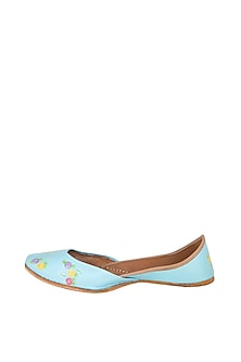 Sky Blue Hand Painted & Handcrafted Juttis by The Haelli