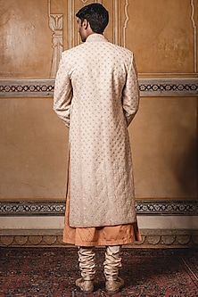 Gold Embroidered Sherwani Set by Tarun Tahiliani Men