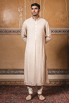 Gold Embroidered Kurta With Pants by Tarun Tahiliani Men